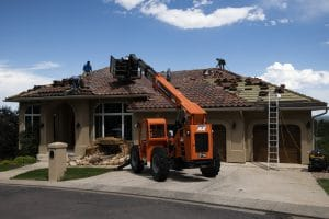 Repairing a roof that was damaged